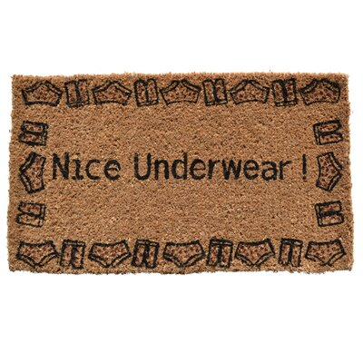 Creel Nice Underwear Doormat Mat Size: Rectangle 30 x 18