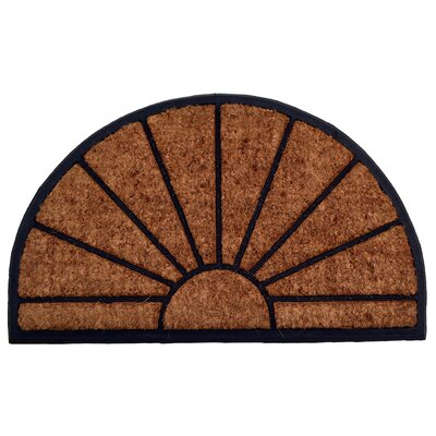 Molded Sun Half Round Doormat Mat Size: Semi-Circle 18 x 30