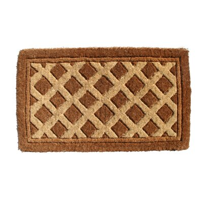 Woven Diamonds Doormat Size: Rectangle 18 x 30