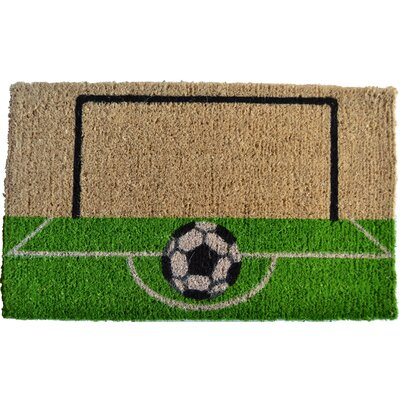 Creel Soccer Field Doormat Rug Size: Rectangle 30 x 18