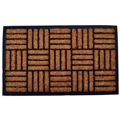 Molded Criss Cross Doormat Mat Size: Rectangle 18 x 30