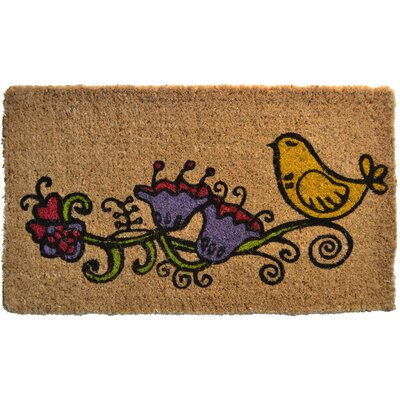 Creel Twitter Doormat Mat Size: Rectangle 30 x 18