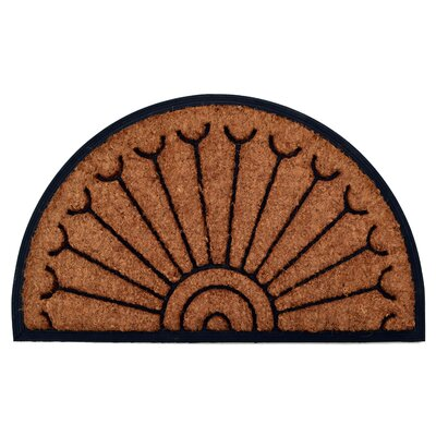 Molded Peacock Half Round Doormat Mat Size: Semi-Circle 18