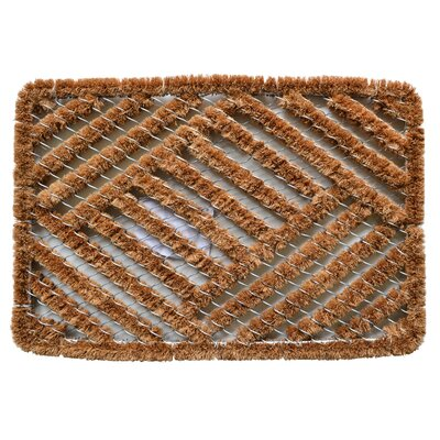 Twisted Overlapping Cross Hatch Boot Scraper Mat Size: Rectangle 16 x 24