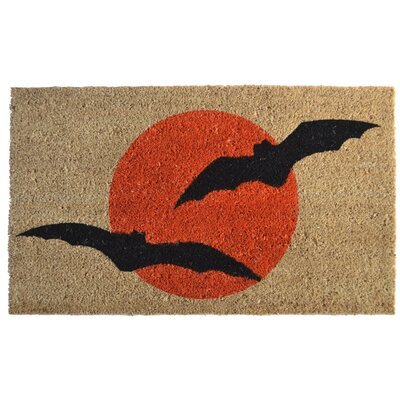 Molded Bats Doormat Mat Size: Rectangle 30 x 18