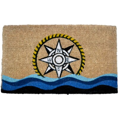 Creel Compass Doormat Mat Size: Rectangle 30 x 18