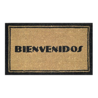 Creel Bienvenidos Doormat Mat Size: Rectangle 18 x 30