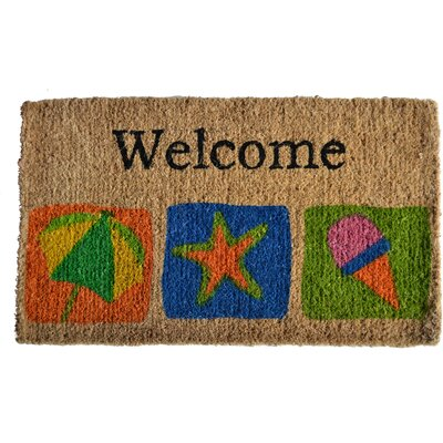 Creel Welcome Beach Doormat Mat Size: Rectangle 30 x 18