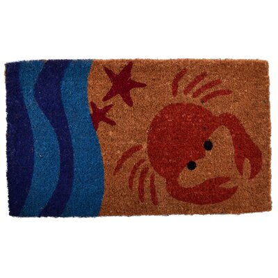 Creel Crab Doormat Mat Size: Rectangle 30 x 18