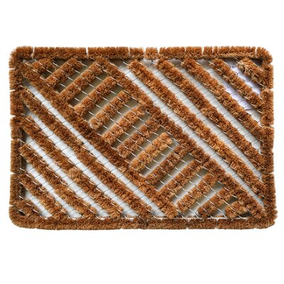 Twisted Spiral Diagonal Boot Scraper Mat Size: Rectangle 16 x 24