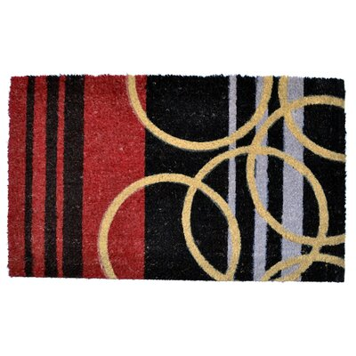 Stripes and Circles Doormat