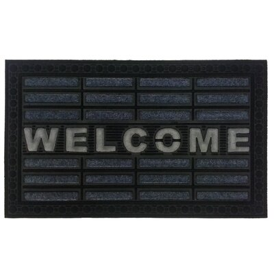 Welcome Doormat Color: Gray/White/Black