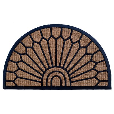 Molded Lily Doormat Mat Size: Semi-Circle 18 x 30