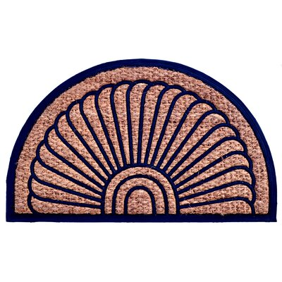 Molded Fan Doormat Mat Size: Semi-Circle 18 x 30