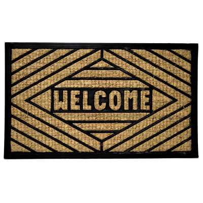 Molded Welcome Doormat Size: Rectangle 18 x 30