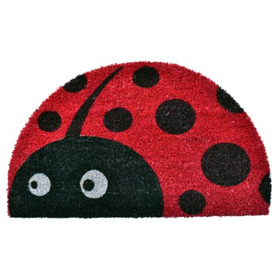 Half Round Lady Bug Doormat