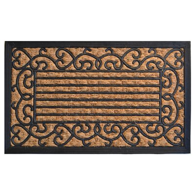 Molded Vine Border Doormat Mat Size: Rectangle 30 x 18