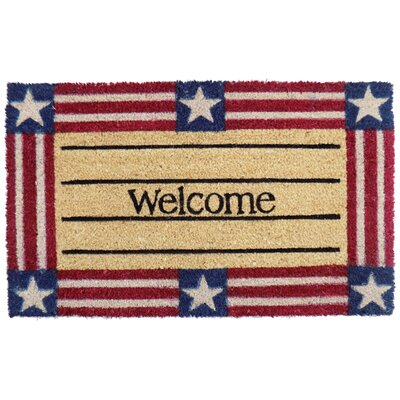 Welcome Star and Stripe Doormat