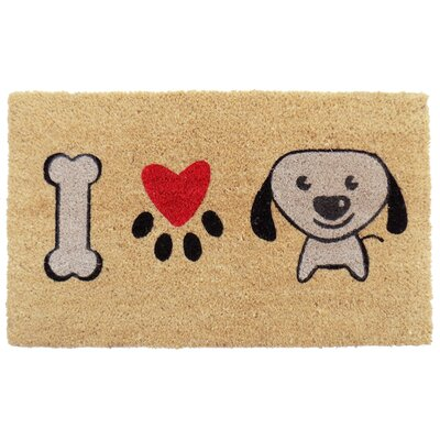 I Love Puppy Doormat