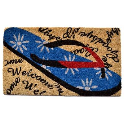 Welcome Goodbye Flip Flop Doormat