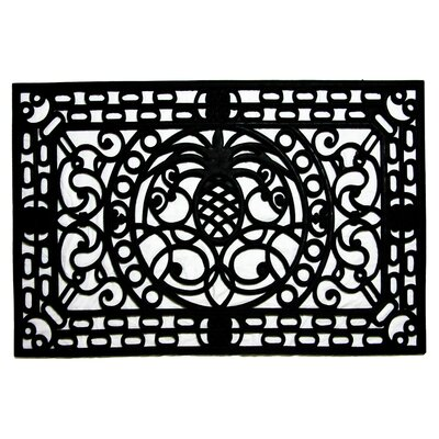 Molded Pineapple Doormat Size: 18 x 30