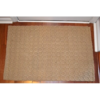 Natural Beehive Rug Rug Size: Rectangle 6 x 9