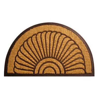 Molded Fan Doormat Size: 18 x 30
