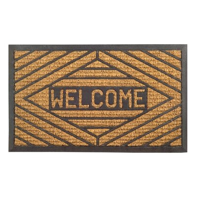 Molded Welcome Doormat Size: 18 x 30