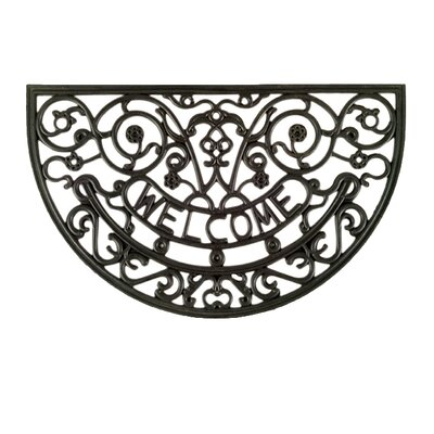 Molded Rose Mary Welcome Doormat Size: 18 x 30