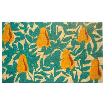 Creel Pear Tree Doormat Size: Rectangle 18 x 30