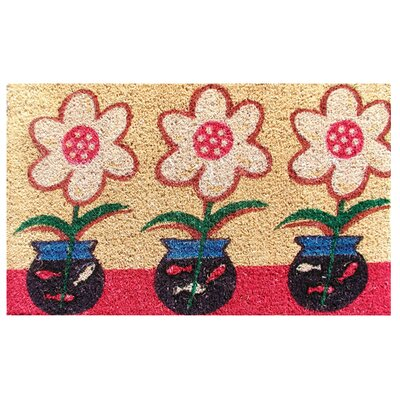 Fish Bowl Flower Doormat