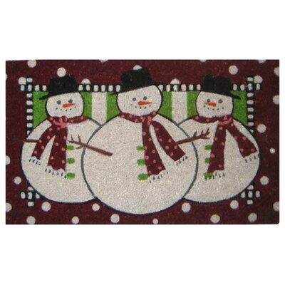 Creel Three Snow Men Doormat Size: 18 x 30