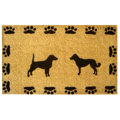 Creel Dog with Paws Doormat Size: 18 x 30