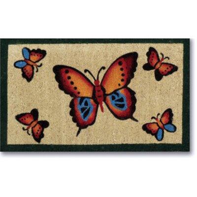 Creel Butterflies Doormat Size: 18 x 30