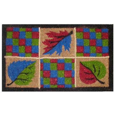 Creel Leaves Rope Doormat Size: 18 x 30