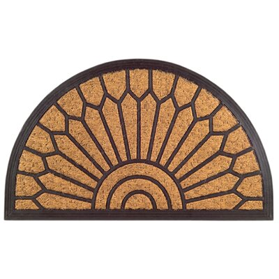 Molded Lily Doormat Size: 18 x 30