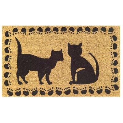 Tufted Two Cats Doormat Size: 18 x 30