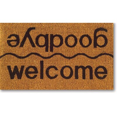 Tufted Welcome / Goodbye Doormat Size: 18 x 30