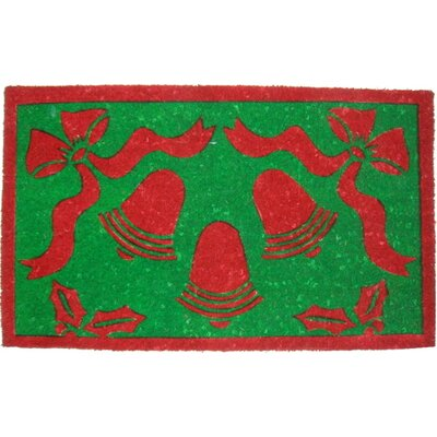 Tufted Christmas Bells Doormat Size: 18 x 30