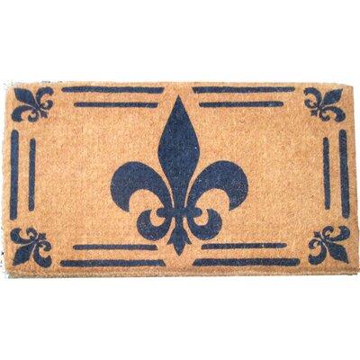 Woven Fleur-de-lis Doormat Size: 48 x 30