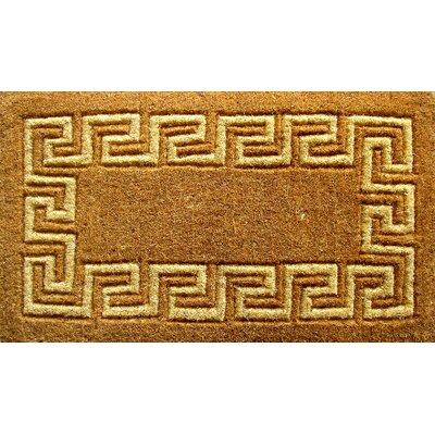 Woven Greek Key Doormat Size: 18 x 30