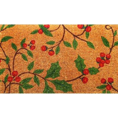 Woven Holly Princess Doormat Size: 18 x 30