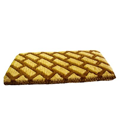 Woven Diagonal Bricks Doormat Size: Rectangle 18 x 30