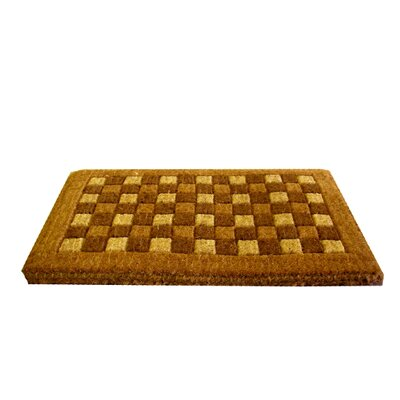Woven Check Doormat Size: 18 x 30