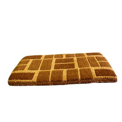 Woven Brick Doormat Size: 18 x 30