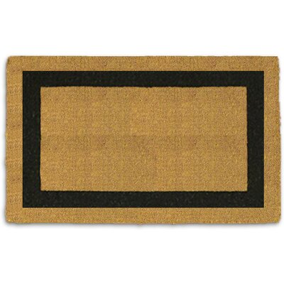 Saylors Single Border Doormat Rug Size: 110 x 3