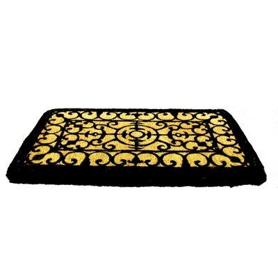 Woven Fleur-de-lis Doormat Size: 18 x 30