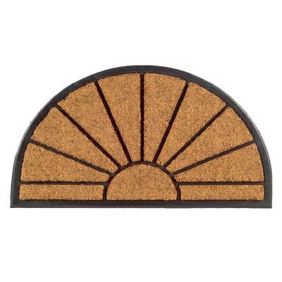 Molded Sun Half Round Doormat Size: 18