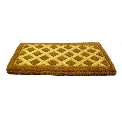 Woven Diamonds Doormat Size: 18