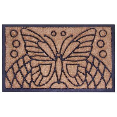 Molded Butterfly Doormat Size: 18 x 30
